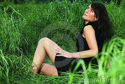 Lady in Grass