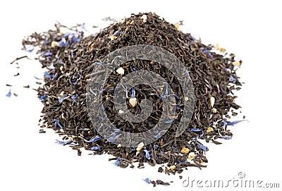 Lady Grey black loose tea leaves isolated