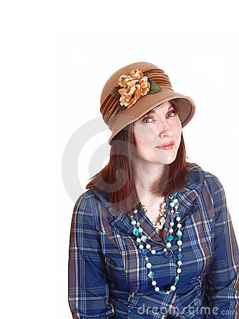 Lady with hat.