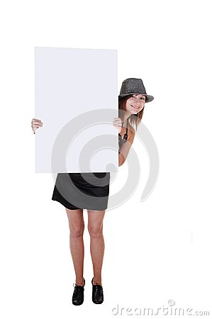 Lady with hat and umbrella.