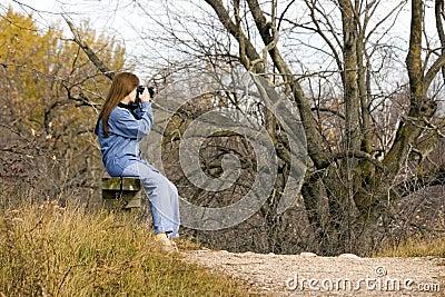 Lady Hiker Resting