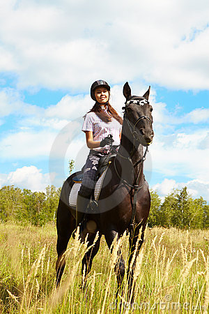 Lady on horse