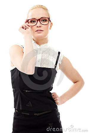 Free Lady In Glasses Stock Photography - 21645722