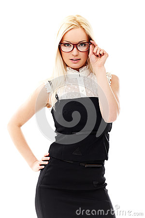 Free Lady In Glasses Stock Image - 24767951