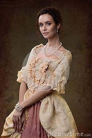 Free Lady In Medieval Dress Stock Photo - 52192100