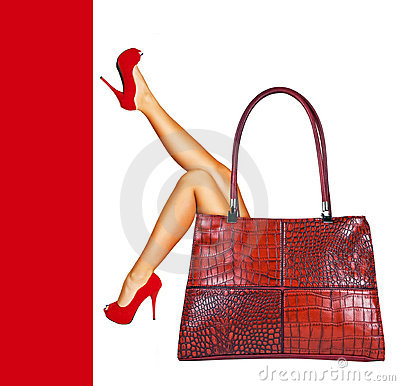 Free Lady In Red. Stock Photography - 21748302