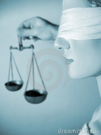 Lady justice hold the scales of justice