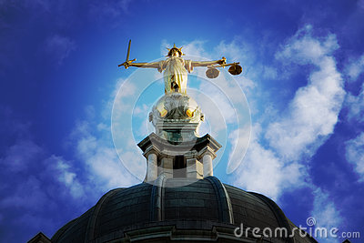 Lady Justice On The Old Bailey, London