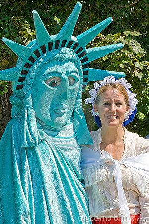 Lady Liberty and Betsy Ross impressionists. Editorial Photo