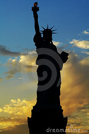 Free Lady Liberty Silhouette Royalty Free Stock Photos - 271568