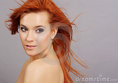 Lady With Long Red Hair