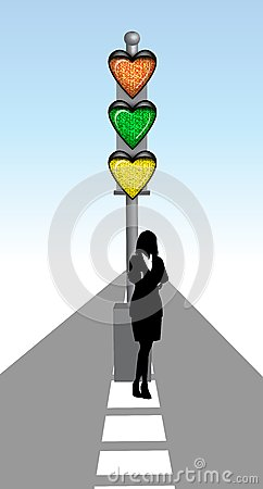 Lady with love signal