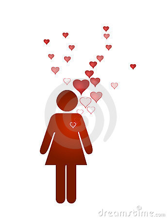 Free Lady Lover And Emerging Hearts Royalty Free Stock Photo - 8490215