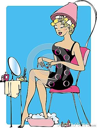 Lady making beauty
