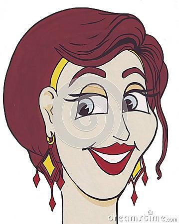 Lady med ett leende