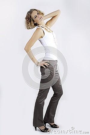 Lady model elegant
