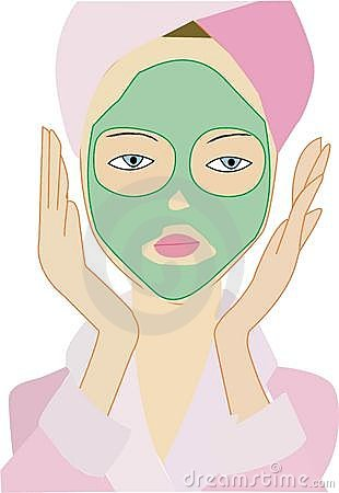 Lady with mud mask