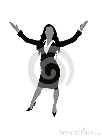 Lady with open arms