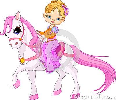 Lady på häst