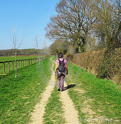 Lady Rambler on a Rural Trail