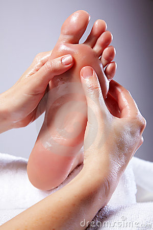 Lady Receiving Foot Massage