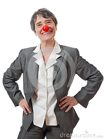 Lady with red nose