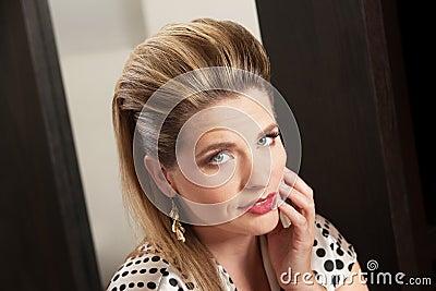 Lady With Retro Hairdo