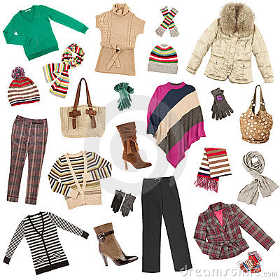 Free Lady S Clothes. Winter Warm Clothes Stock Images - 16116744