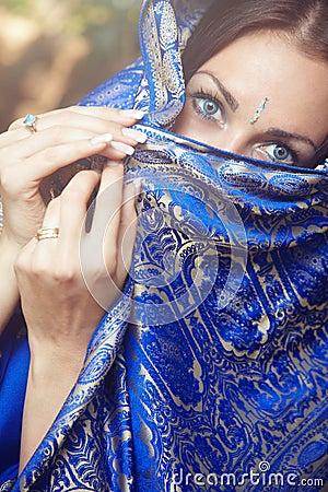 Lady in sari