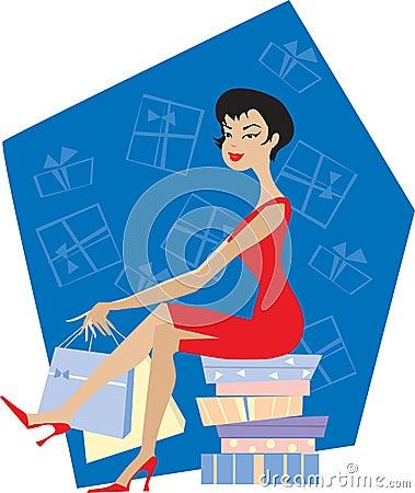 Free Lady Shopping Royalty Free Stock Photos - 1775738