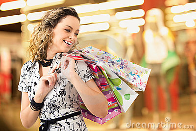 Lady in the shopping mall