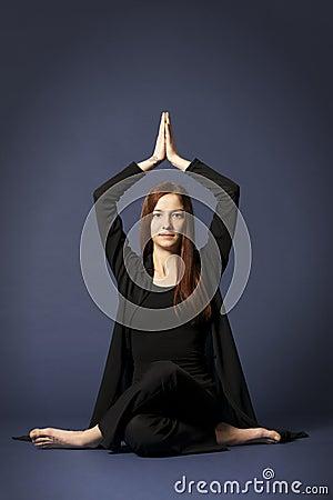 Lady in Siddhasana posture