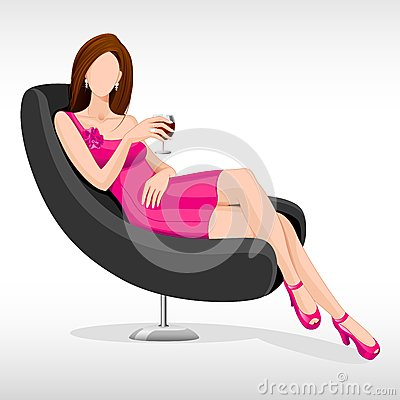 Lady sitting in Couch