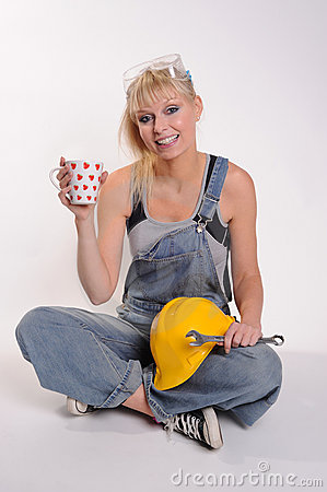 Lady with spanner