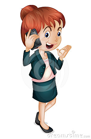 Lady talking on phone