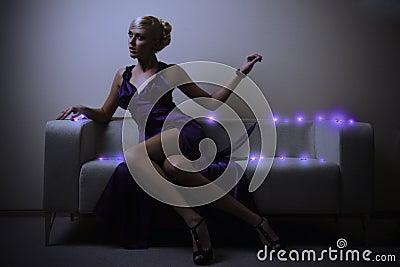 Lady in violet