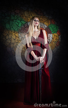 Free Lady Warrior Royalty Free Stock Images - 29916839