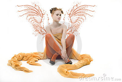Lady with wings