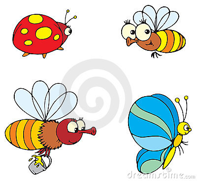 Free Ladybird, Butterfly And Bee Royalty Free Stock Image - 3279716