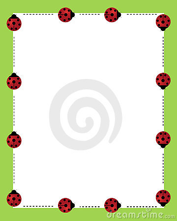 Ladybirds borders frame