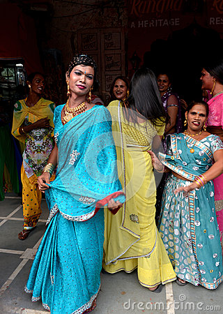 Ladyboy in India Editorial Stock Image