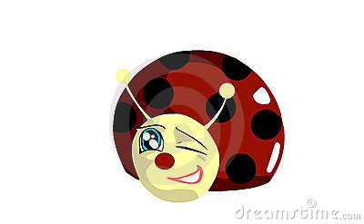 isolated happy Ladybug cartoon