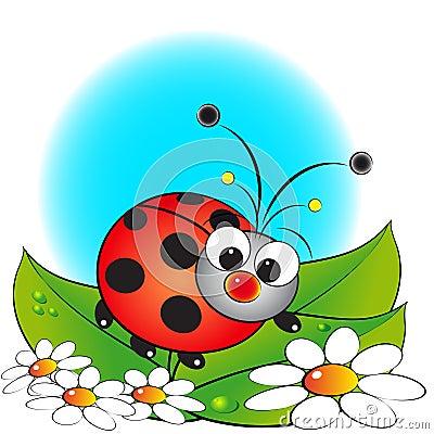Free Ladybug And Flowers - Kids Illustration Stock Photography - 8595912