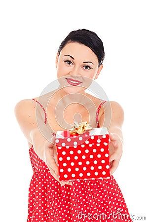 Ladybug and boxed present