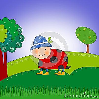 Ladybug. Cartoon character.