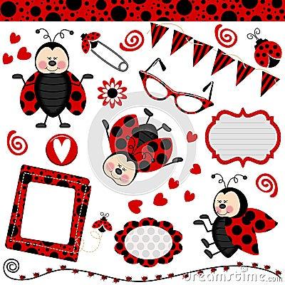 Ladybug Digital Collage