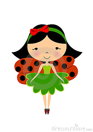 Free Ladybug Fairy Stock Photography - 3382552