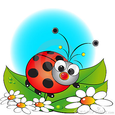 Ladybug and flowers - Kids illustration