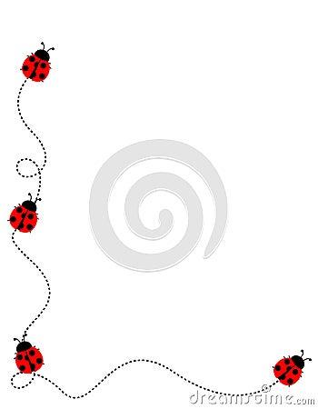 Free Ladybug Frame Border Royalty Free Stock Photos - 19296538