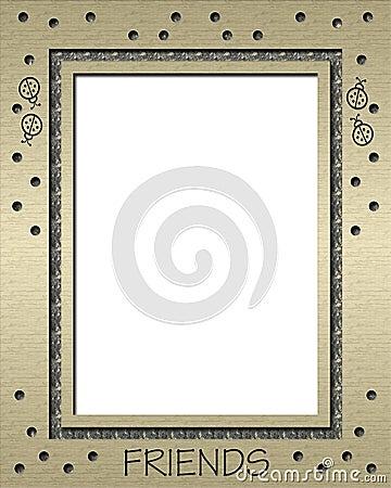 Ladybug Gold Frame